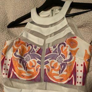 Orange & Pink pattern romper